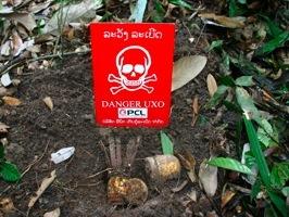 超過一百個國家簽署了禁止使用集束炸彈條